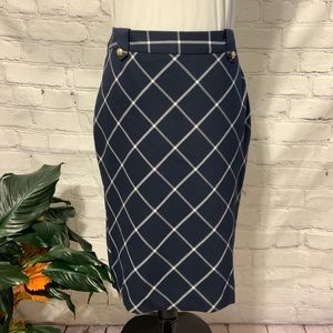 Classic & Elegant LIMITED Blue/White Pencil Skirt
